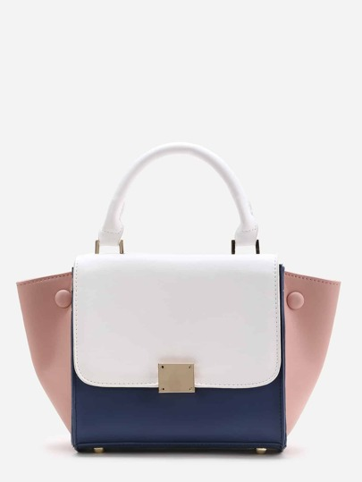 Bolso de pu en color block
