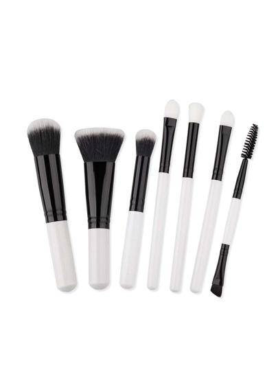 Black And White Makeup Brush Set