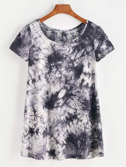 Cloud Wash Split Back T-shirt