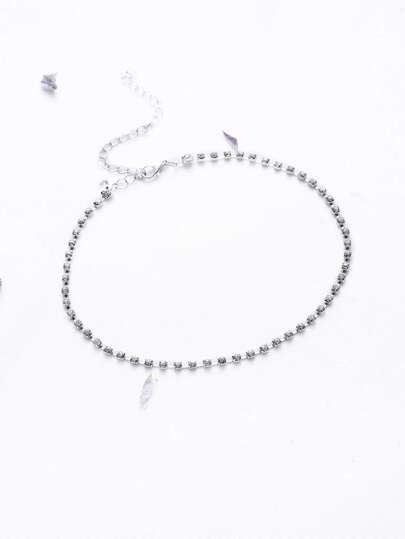 Rhinestone Delicate Choker Necklace