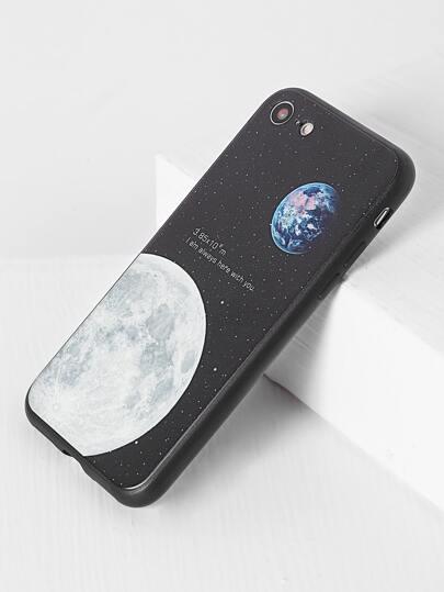Black Moon Pattern iPhone 7 Case
