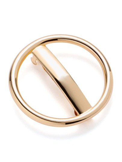Clip de pelo en forma de anillo de oro