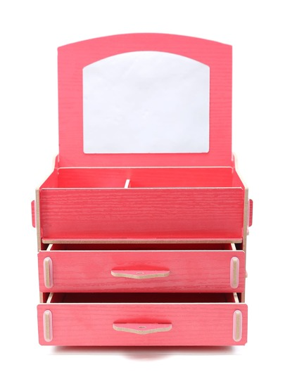 Red Layered Delicate Makeup Storage