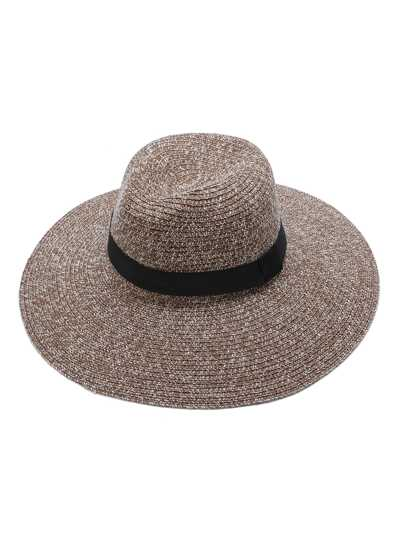 Khaki Wide Brim Straw Hat