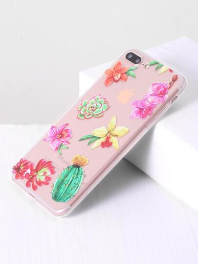 Flower Stampa Clear Case Inoltre iPhone 7