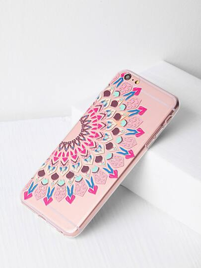 Tribal Print Clear iPhone 6 Plus/6s Plus Case