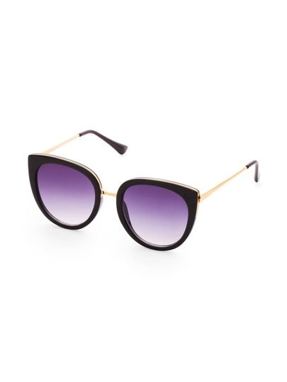 Black Frame Purple Lens Sunglasses