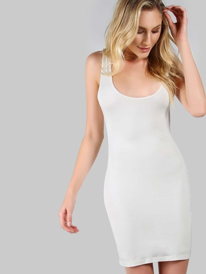 Scoop Neck Tank Dress IVORY
