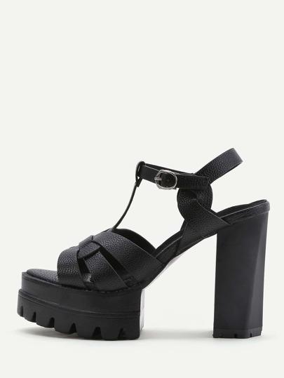 Sandales à talons hauts à plateforme Strappy
