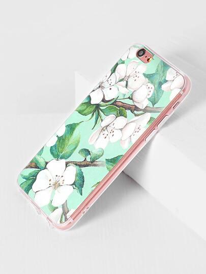 Blume und Blatt-Druck iPhone 6 / 6s Fall