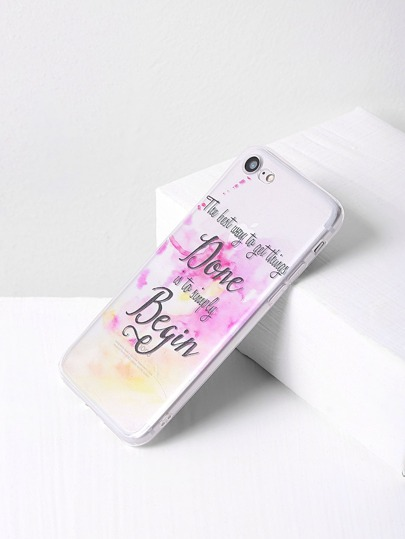 Letter Print Clear iPhone 7 Fall