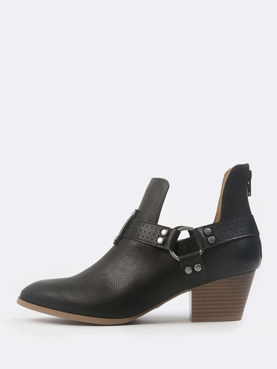 Harness Ankle Boots BLACK