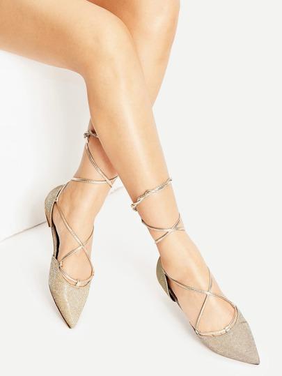 Ballerine con laccetti - oro