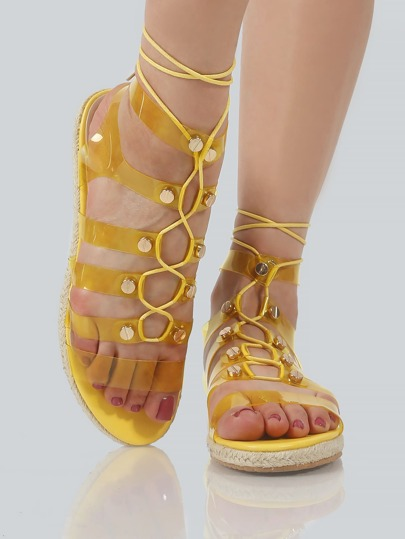 Transparent Gladiator Sandals YELLOW