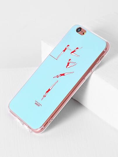 Funda para iPhone 6/6s con estampado de salto