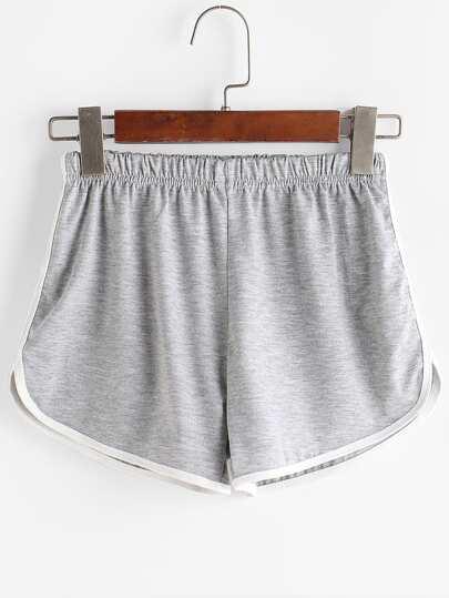 Shorts bicolore gris foncé découpé
