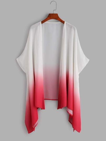 Kimono ombré asymétrique -rose