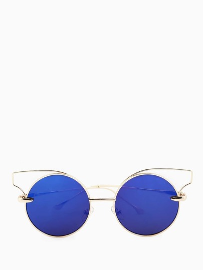 Circular Cat Rim Sunglasses VIOLET