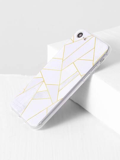 white pattern géométrique iphone 7 cas