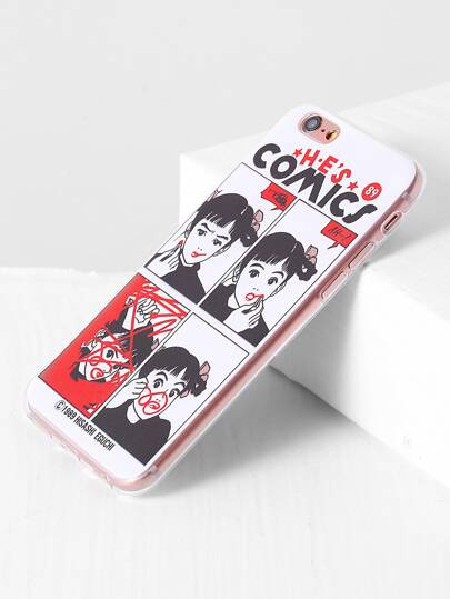 Girl And Lipstick Cute iPhone 6/6s Case