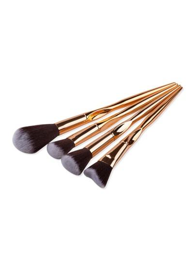 Gold Makeup Brush Set 4Pcs
