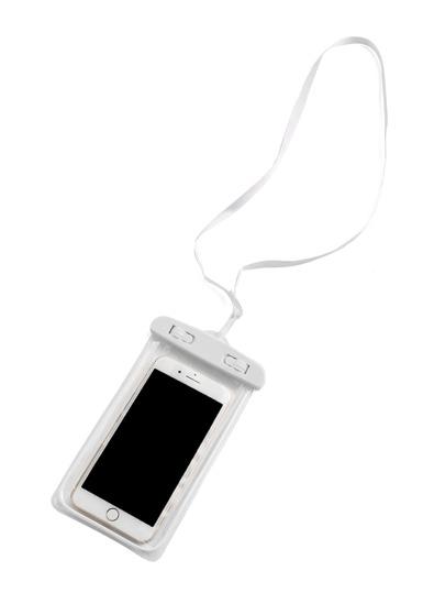 Claro bolsa de teléfono impermeable de 6 pulgadas
