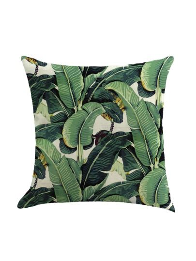 Leaf Print Pillowcase Cover