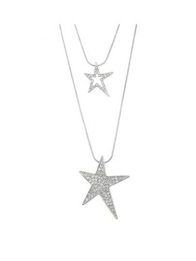 Double Layers Stars Pendant Necklaces