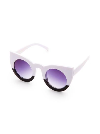 Gafas de sol estilo ojo de gato en color block