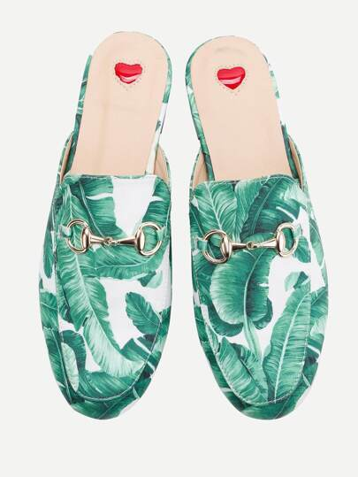 Loafer Mules imprimé tropical
