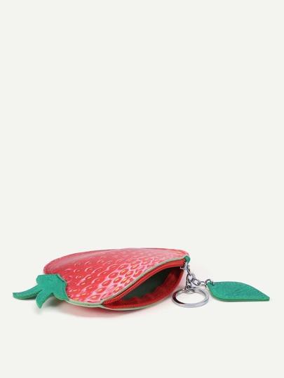 Monedero con estampado de fresa