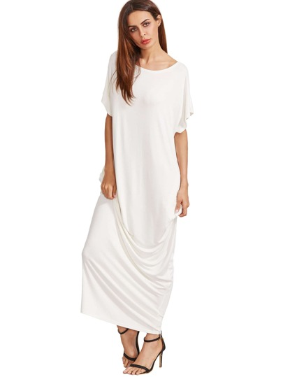 Pocket Cocoon Full Length Dress