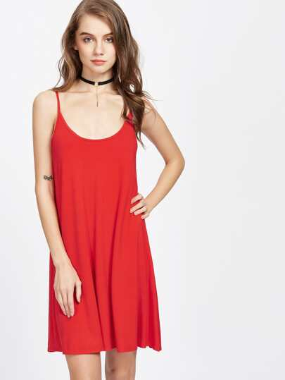 V Back Swing Cami Dress