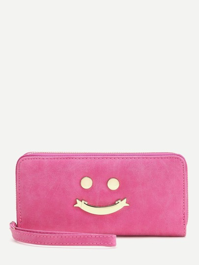Pink Happy Smile Design Cute Wallet