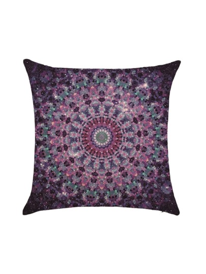 Purple Vintage Square Pillowcase Cover