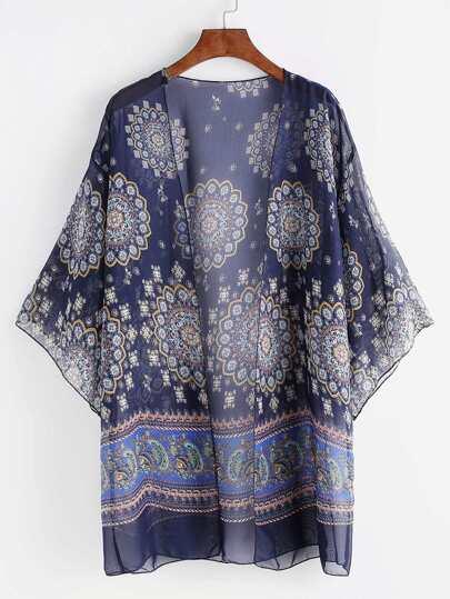 Marin Vintage Impression Drop Shoulder Kimono