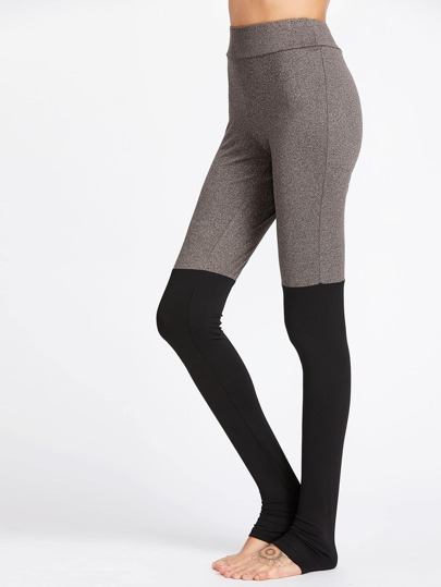 Color Block Heel Covered Leggings