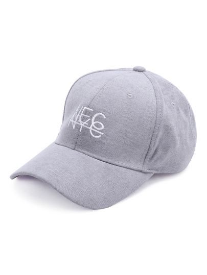 Grey Letter Embroidery Baseball Cap