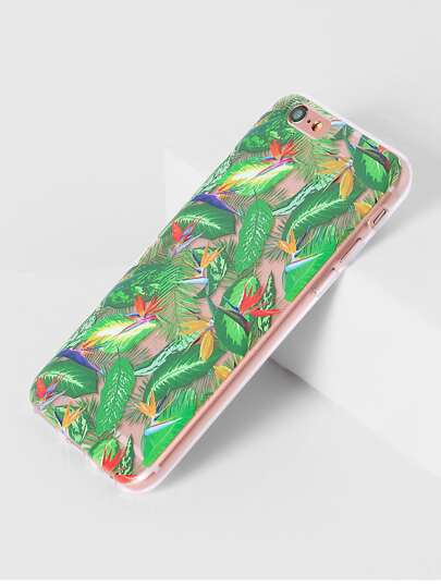 Green Leaf Stampa iPhone 6 / 6S Caso