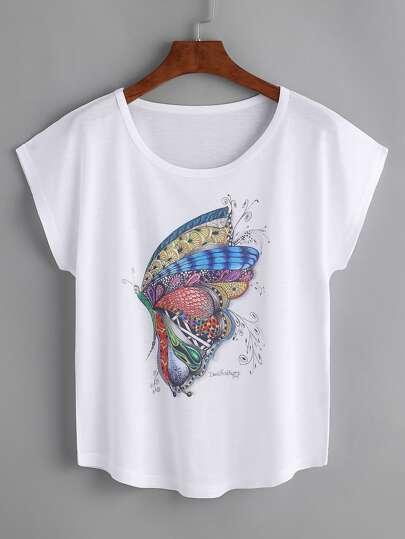 T-shirt imprimé papillon