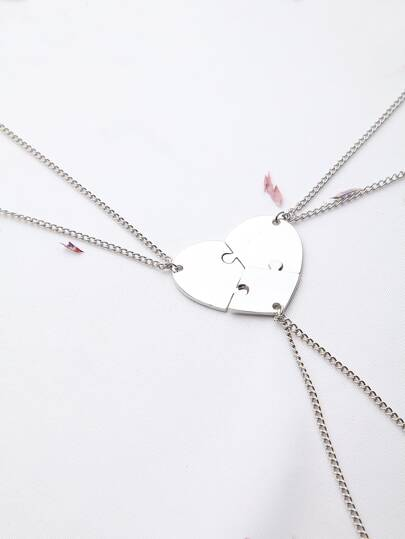 Ensemble Collier Argent