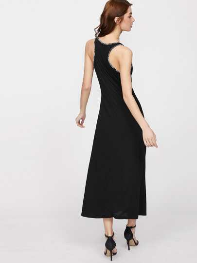 Contrast Binding Racerback Tank Dress