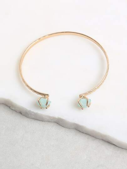Jewel Stone Cuff Bracelet GREEN