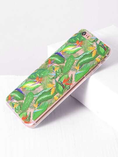 Funda para iphone 6 plus/6s plus con estampado de hoja - verde