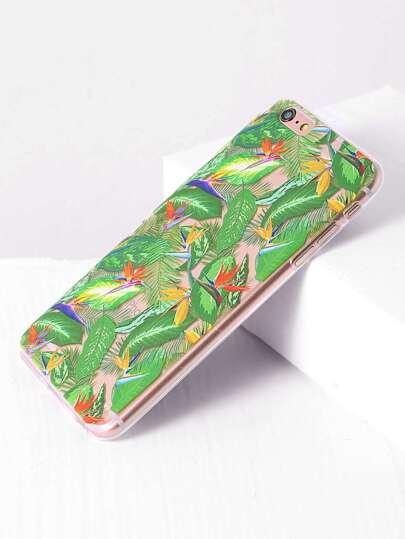 feuille verte pour iphone 6 plus / 6s plus cas