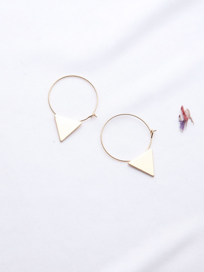 Boucles d'oreilles en or Triangle