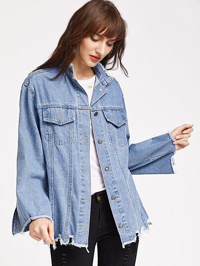 Raw Hem Denim Jacket