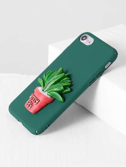 Green Pot Plant Cute iPhone 7 Case