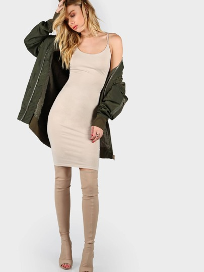 U Neck Skinny Cami Dress