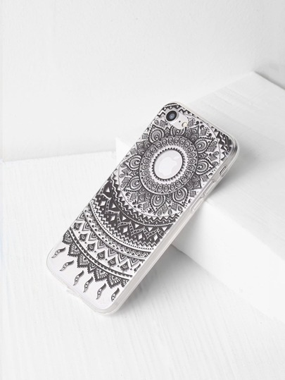 Tribal Pattern Clear iPhone 7 Case